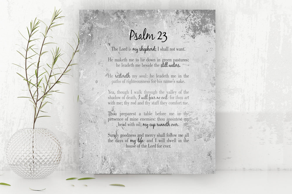 Psalm 23, The Lord is my Shepherd, Gift for Wife, Tin Gift, 10 Year Anniversary Gift, Christian Gift, Scripture Wall Decor, Gift for Men