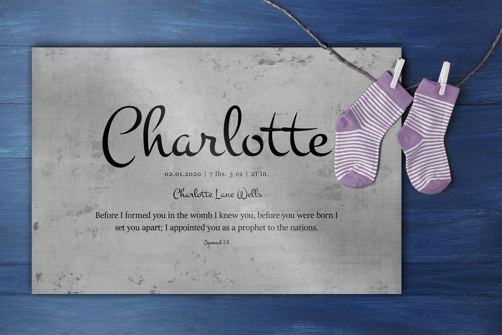 Child's Name Sign, Christian Art for Kids, New Baby Gift, Personalized Sign for Nursery, Custom Baby Shower Gift, Baby Decor, Jer 1:5 sign
