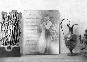 Tin Anniversary Gift, Wedding Photo on Tin, Wedding vows with photo, 10 Year Anniversary Gift for Him, Tenth Anniversary Tin, Photo on Metal