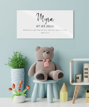 Baby Name Sign, Custom Name Sign, Christian Gift for New Mom, Gift for New Parents, Custom Nursery Decor, Personalized Name Sign, New Baby