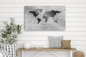 10 Year Anniversary Gift, World Map on tin Sign, Established Sign, Gift for Husband, 10 Year Wedding Anniversary, Military Spouse Gift, 10th