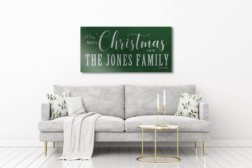 Family Name, Holiday Sign, Chirstmas wall decor, Personalized Sign, Establsihed Sign, Family Sign, Name Sign, Christmas Wall decor, Art