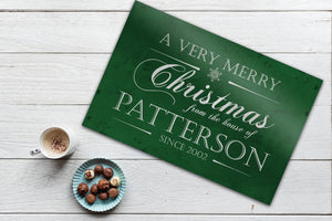 Personalize Holiday Sign, Family Sign, Christmas Sign Farmhouse, Est. sign, Metal Christmas Sign, Rustic, Large Christmas Sign, Green Decor