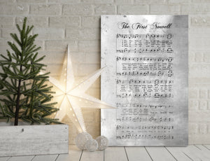 The first Noel, Sheet Music Print, Farmhouse Christmas, Gift for chior, Religious Gift, sign, Metal Christmas Sign, Rustic Christmas Decor