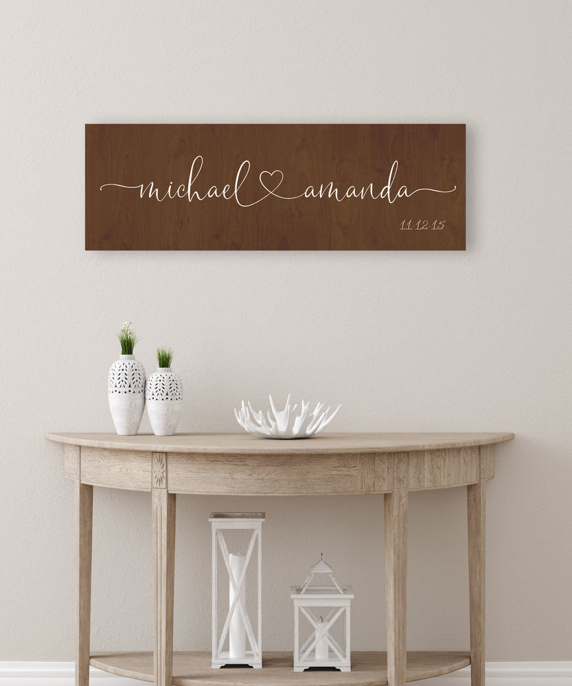 Wood Est sign, Wood Anniversary Gift, Established sign on Wood, 5th Wedding Anniversary Gift, 5 Year Anniversary Gift, for Her, Name Sign