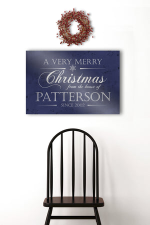 Personalize Holiday Sign, Family Sign, Christmas Sign Farmhouse, Established sign, Metal Christmas Sign, Rustic, Large Christmas Sign,
