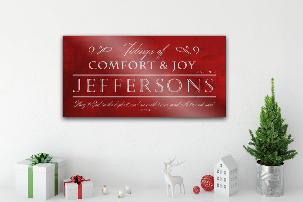 Christian Christmas Sign, Chirstmas wall decor, Personalized Holiday Sign, Large Metal Sign, Family Sign, Name Sign, Merry Christmas Sign