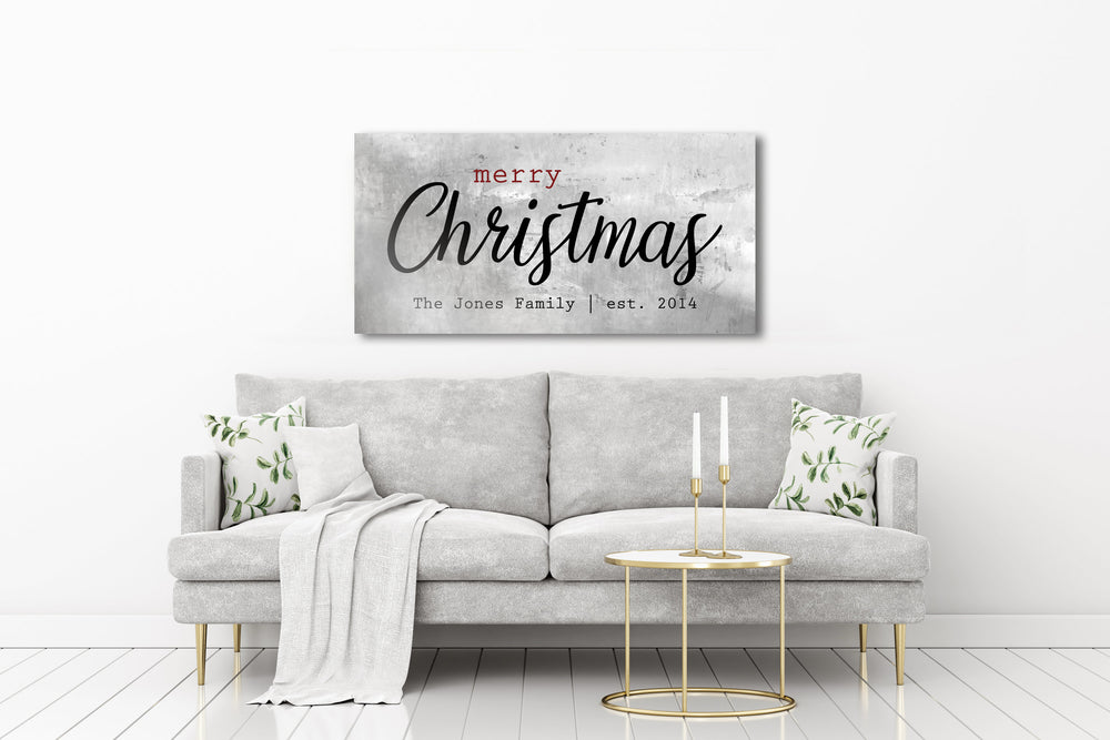 Rustic Holiday Sign, Christmas Sign, Christmas wall, Personalized Holiday Sign, Establsihed Sign, Family Sign, Name Sign, Christmas decor
