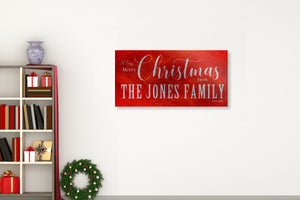 Large Christmas Sign, Family Name, Holiday Sign, Christmas wall, Personalized Sign, Est Sign, Family Sign, Name Sign, Christmas Wall decor