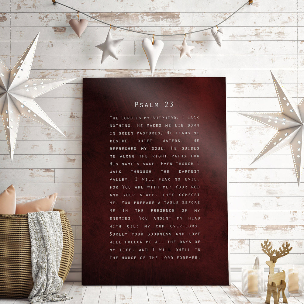 Psalm 23, Gift for Christian, Scripture about Peace, Encouragement, The Lord is my Shepherd, Bible Verse, Sign, Scripture, Pastor Gift Idea