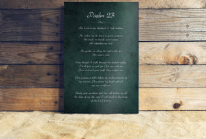 The Lord is my Shepherd I shall not want, Psalm 23, Gift for Christian, Peace, Encouragement, Bible Verse, Sign, Scripture, Pastor Gift Idea
