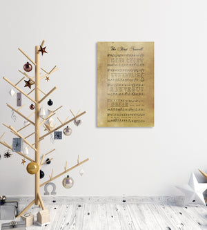 Sheet music Gift, Sheet Music Print, Farmhouse Christmas, Gift for chior, Religious Gift, sign, Metal Christmas Sign, Rustic Christmas Decor