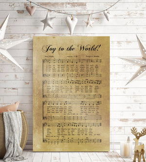 Joy to the World, Rustic Christmas Decor, Sheet music Gift, Farmhouse Christmas, Gift for chior, Religious Gift, sign, Metal Christmas Sign