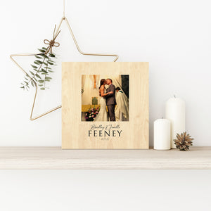 Wood Anniversary Gift, Photo Gift on Wood, 5th Wedding Anniversary Gift, 5 Year Anniversary Gift for Him, Gift for Her, Wood Photo Gift