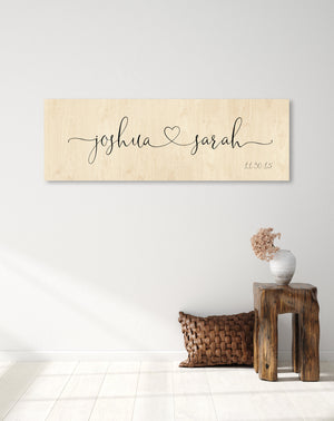 Wood Anniversary Gift, Established sign on Wood, 5th Wedding Anniversary Gift, 5 Year Anniversary Gift for Her, Gift for Her, Name Sign