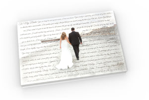 20x30 Words and Photos Canvas - Fine art and canvas personalized anniversary and inspirational gifts