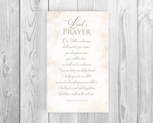 The Lord's prayer sign on canvas, christian song word art, Inspirational canvas,  Christian Lyric Canvas