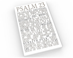 "Psalm 23 Subway sign on Canvas Bible verse print ""The Lord is my Shepherd I shall not want."" Christian Word art Scripture canvas"