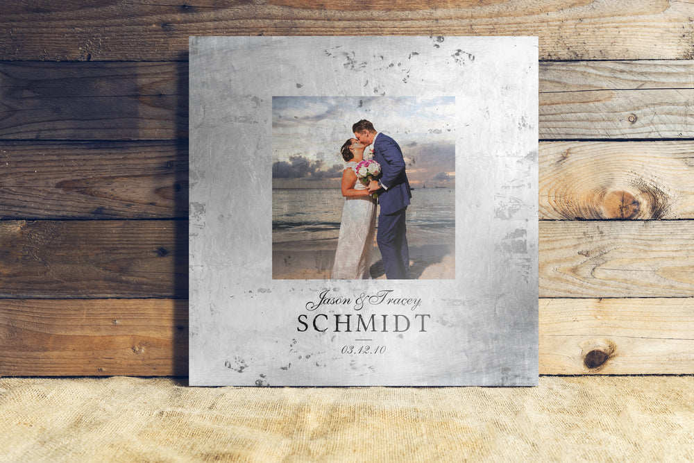 Rustic Photo on Tin Keepsake