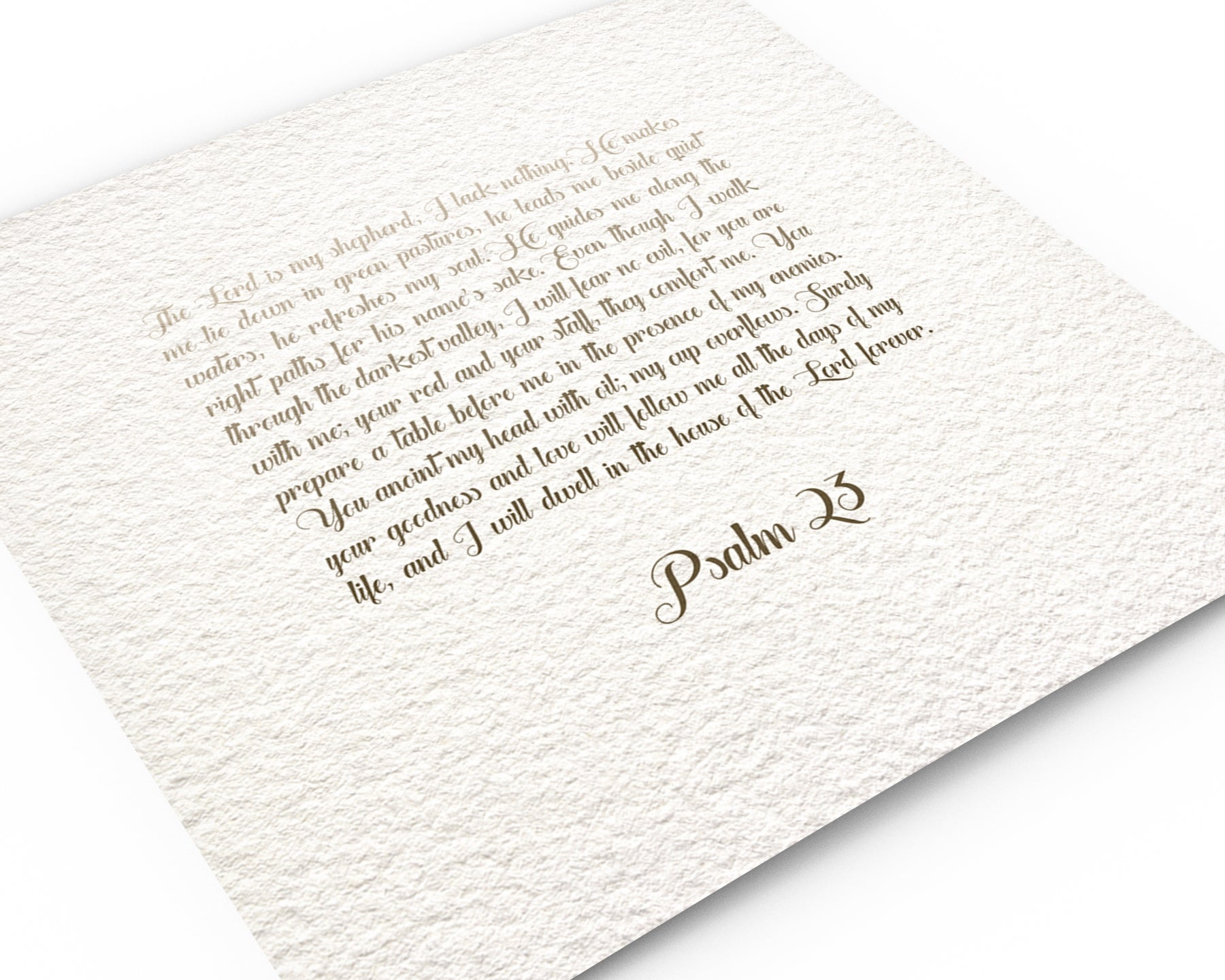 Psalm 23: Ombre Custom Scripture Decor