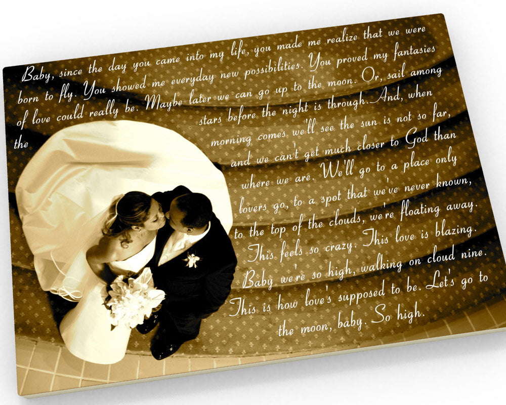 16x20 Wedding Vow Photo Canvas - Fine art and canvas personalized anniversary and inspirational gifts