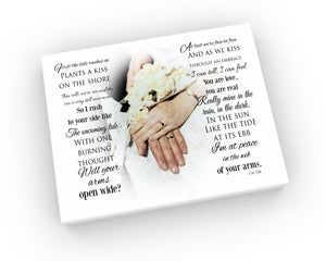 16x16 Wedding Vow Photo Canvas - Hunnycomb Proverbs - Wedding gift ideas - paper anniversary gifts