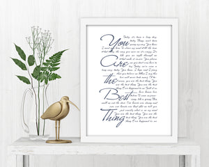 First Dance Song Print - Fine art and canvas personalized anniversary and inspirational gifts