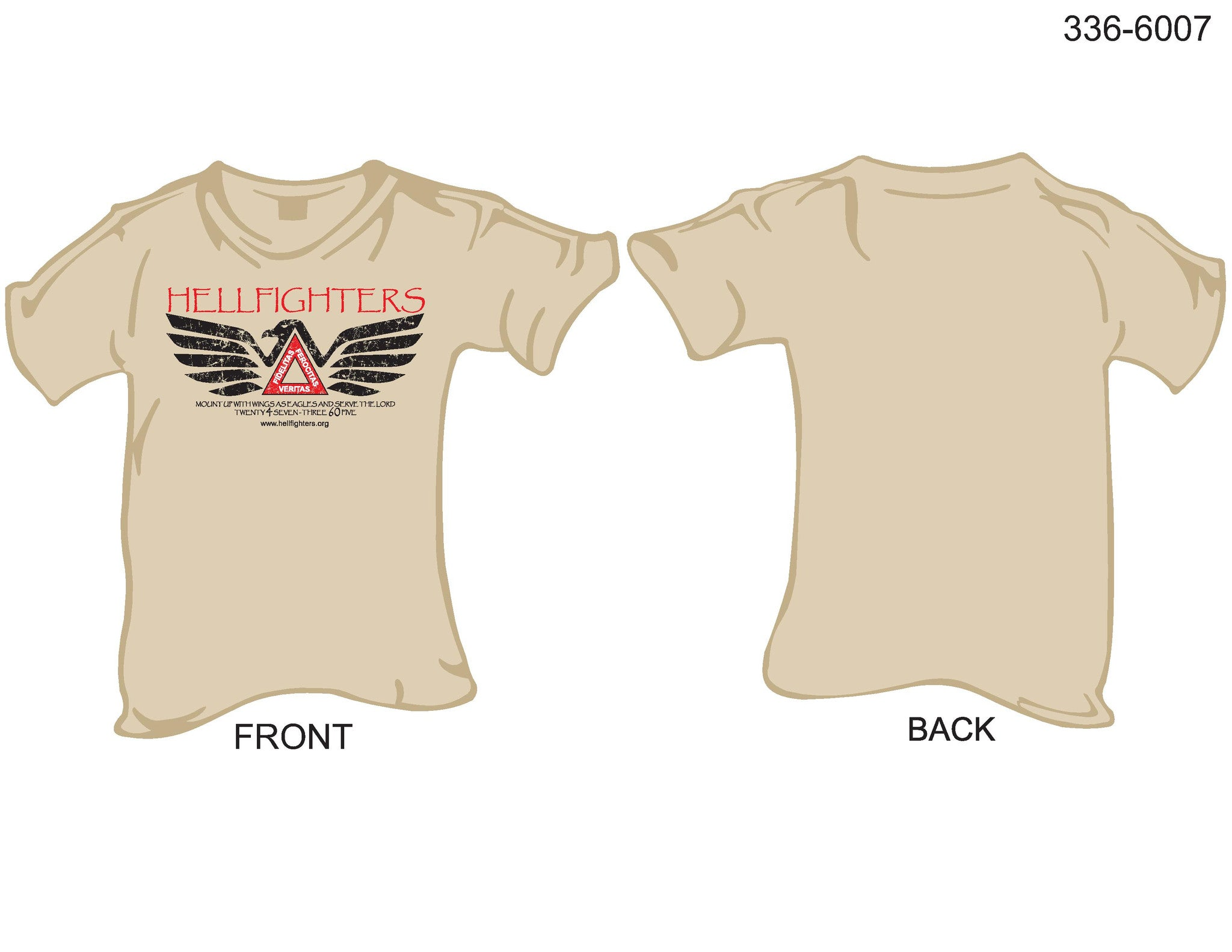 T-Shirt, Short sleeve, Hellfighters - Eagle