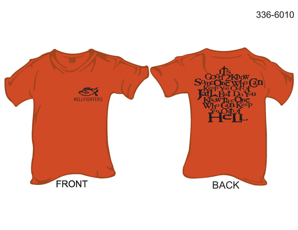T-Shirt, Short Sleeve, Hellfighters Fish/Do You Know The One