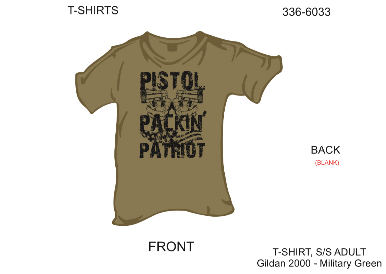 T-Shirt, Short Sleeve, Pistol Packin' Patriot