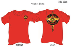 T-Shirt, Short Sleeve, Hellfighters Supporter w/Cross (youth)