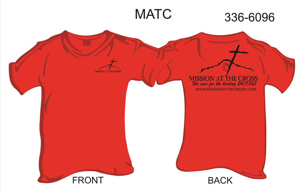 T-Shirt, Short Sleeve, Mission At The Cross (red, black imprint)