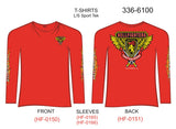 T-Shirt, Long Sleeve, Hellfighter Foot Soldier (red, w/HF Flames, Sport Tek)