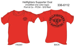 T-Shirt, Short Sleeve, Hellfighters Supporter Oval (modified color logo)