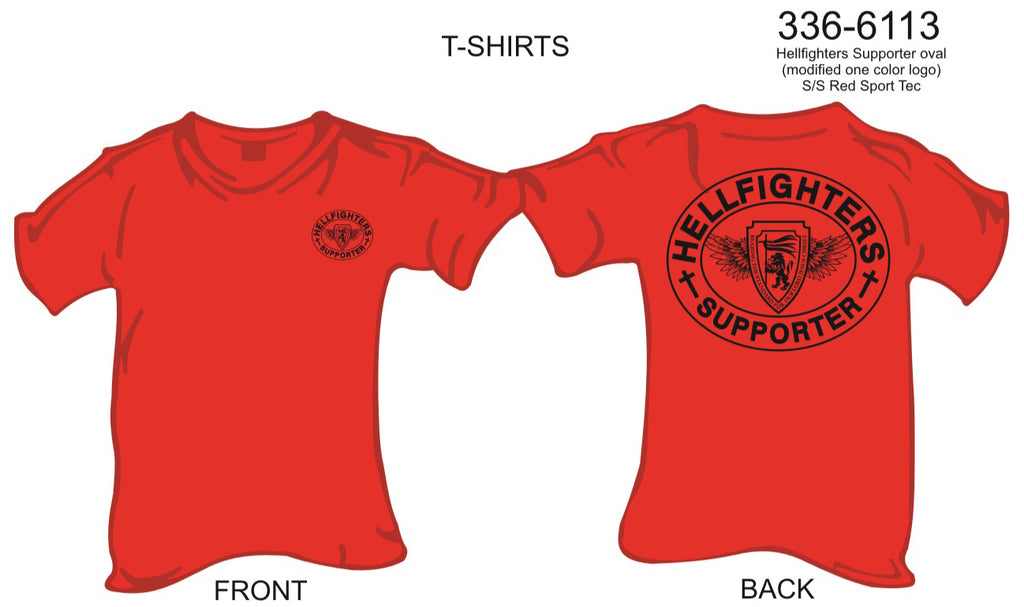 T-Shirt, Short Sleeve, Hellfighters Supporter Oval (modified color logo, Sport Tek)