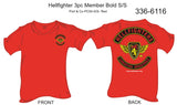 T-Shirt, Short Sleeve, Hellfighter 3pc Member Bold (red)