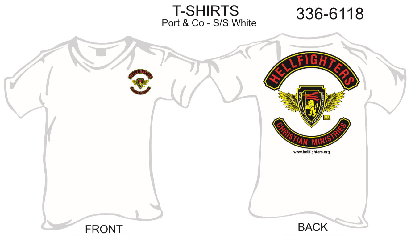 T-Shirt, Short Sleeve, Hellfighter 3pc Member Bold (white)