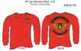 T-Shirt, Long Sleeve, Hellfighter 3pc Member Bold (red, blank sleeves)