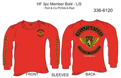 T-Shirt, Long Sleeve, Hellfighter 3pc Member Bold (red, HF sleeves)