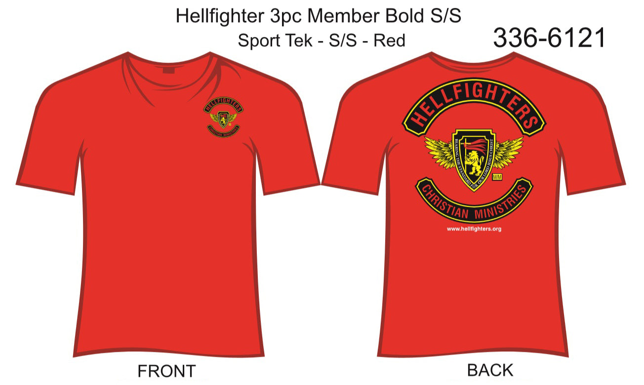 T-Shirt, Short Sleeve, Hellfighter 3pc Member Bold (red, Sport Tek)
