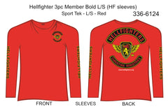 T-Shirt, Long Sleeve, Hellfighter 3pc Member Bold (red, Sport Tek, HF sleeves)