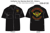 Shirt, Short Sleeve, Hellfighter 3pc Member Bold (black, Dickie's)