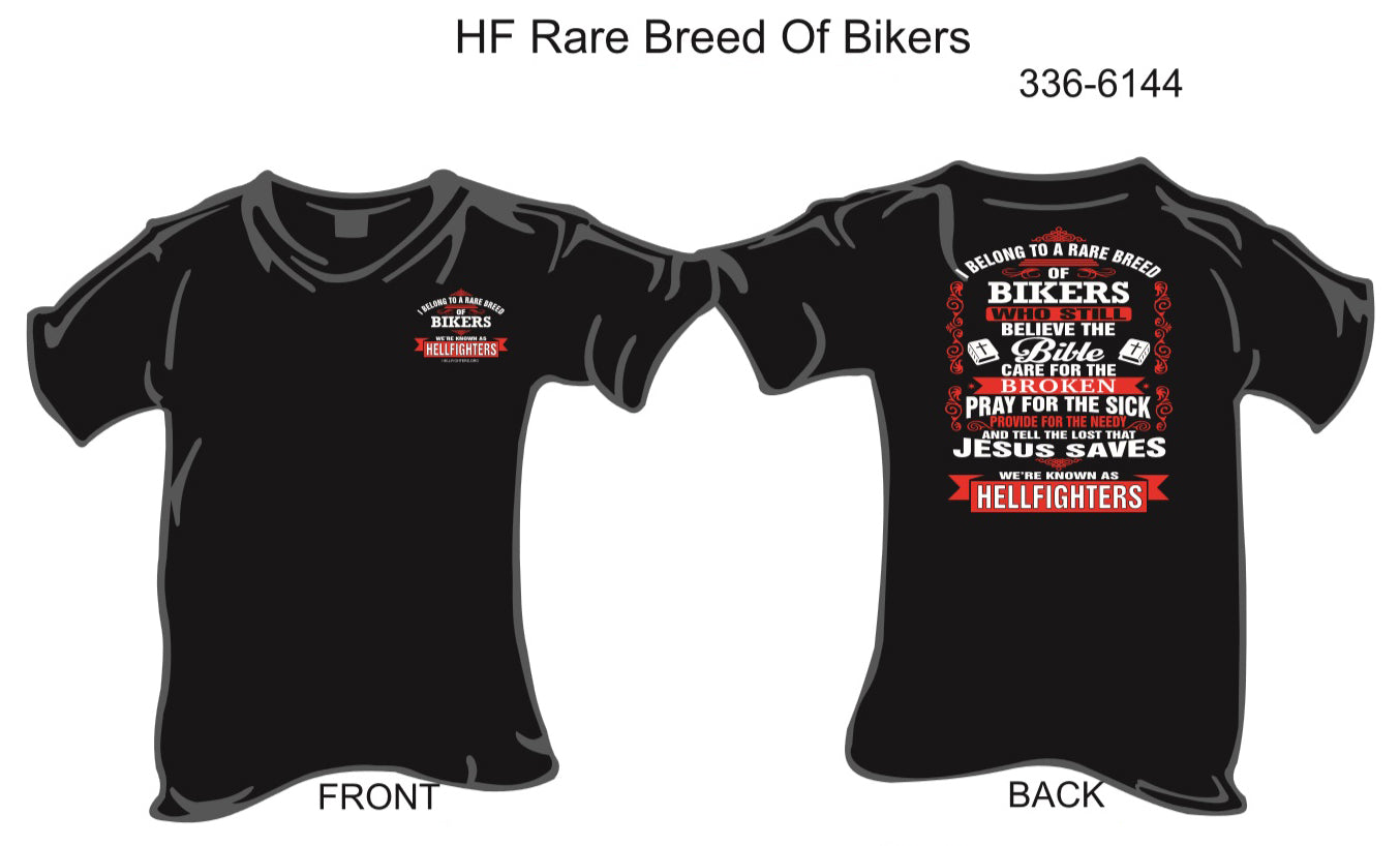 T-Shirt, Short Sleeve, Rare Breed of Bikers ... (black, members only)