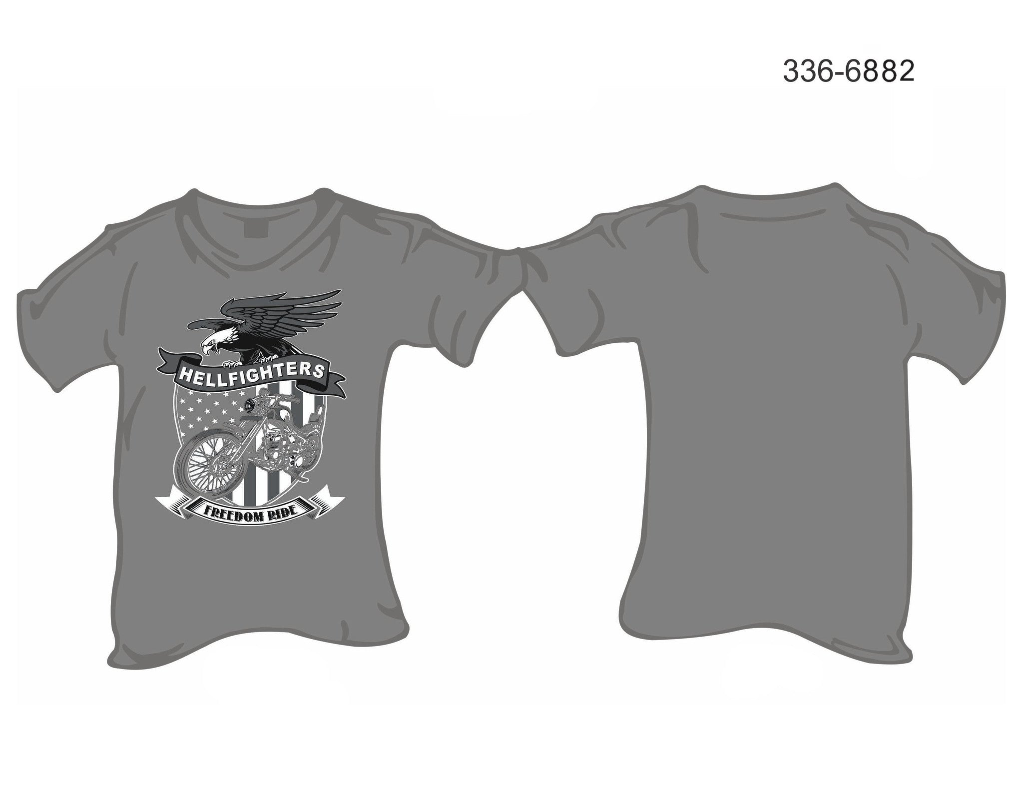 T-Shirt, Short sleeve, Freedom Ride Eagle