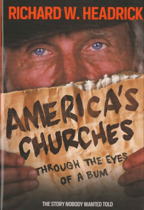 Book, Americas Churches Through the Eyes of a Bum (Hard Cover)