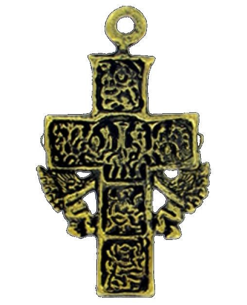 Crosses, Antique Brass Cross Wings