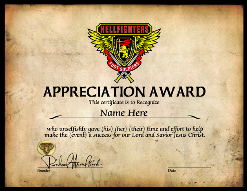 Award, Appreciation