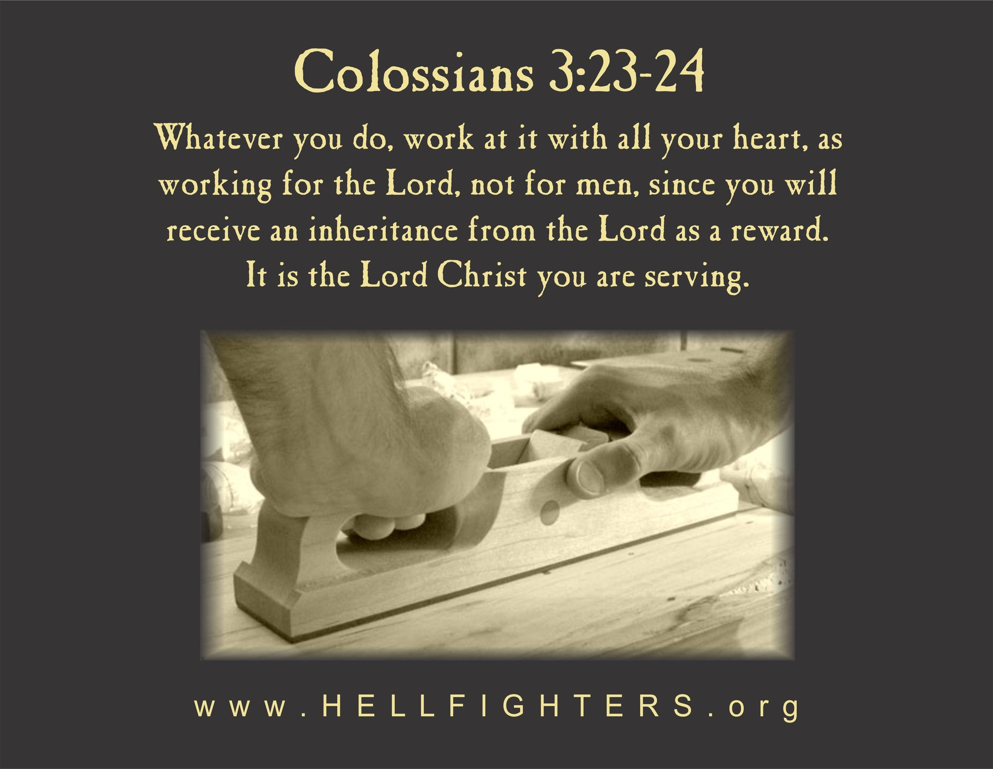 Poem/Pledge, Colossians 3:23-24