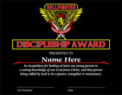 Award, Discipleship - Foot Soldiers