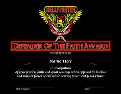 Award, Defender of the Faith - Foot Soldiers